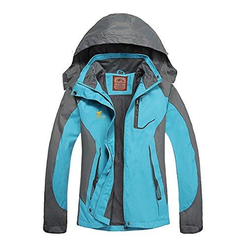 Ladies Nylon Jacket (Women's Hooded Waterproof Jacket - Diamond Candy lightweight Softshell Casual Sportswear)