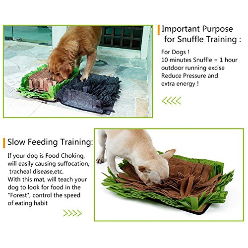 Pet Snuffle Mat Feeding Mat for Dogs Encourages Natural Foraging Skills Nosework Blanket Dog Training Mats Durable and Machine Washable Dogs Puzzle Toys by DogLemi (Image #7)