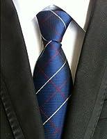 Madison & Lee Ties 100% Silk Men's Jacquard Woven Plaid + Paisley Neckties