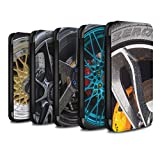 eSwish PU Leather Wallet Flip Case/Cover for Huawei P Smart/Pack 20pcs Design/Alloy Wheels Collection