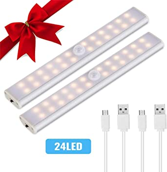 Under Cabinet Kitchen Lights,Lacyie Under Cupboard Lighting Battery Operated,Wireless 40LED Cabinet Light Motion Sensor,USB Rechargeable,Removable Magnetic Strip Stick-On Wardrobe,Closet,Stair,ect