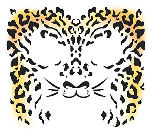 Full Face Temporary Tattoo - Cheetah