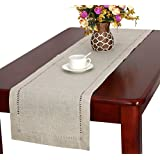 Handmade Hemstitched Natural Rectangle Table Runners (14*120 inch)