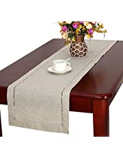 Handmade Hemstitched Natural Rectangle Table Runners (14 * 72 inch)
