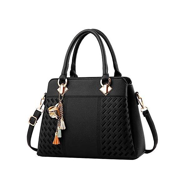 Clearance Sale! ZOMUSAR Fashion Women Leather Splice Handbag Shoulder Bag Crossbody...