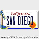San Diego California State/College Vanity License Plate White