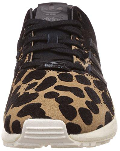 adidas Damen ZX Flux W Sneakers, Grün, EU Core Black/Cardboard