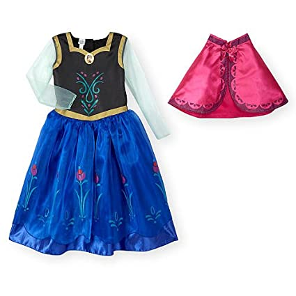 disney frozen girls anna halloween costume with cape 2t