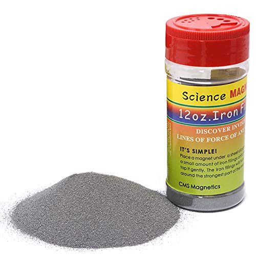 12 oz Fine Iron Filings Magnetic Iron Powder for Magnet Education and School Projects - Discover The World of Magnetics & See Magnetic Lines of This Unseen Force & More ( One Pack )