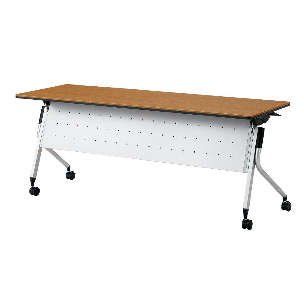 プラス Linello 2 フォールディングテーブル 高さ70cmタイプ 幕板付 LD-515M-70 ミディアムウッド 621935 B013JP7I3E ミディアムウッド|LD-515M-70621935 ミディアムウッド