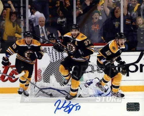 Patrice Bergeron Boston Bruins Signed Autographed Game 7 Comeback vs Leafs 8x10
