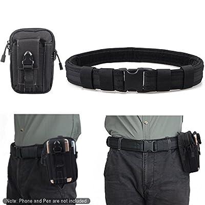 Men's 1.5 Inch Tactical Heavy Duty Belt Combat Gear Utility Belt with EDC Pouch