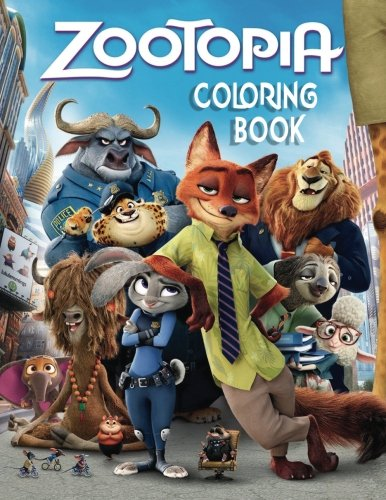 ZOOTOPIA: Coloring Book for Kids and Adults 40 illustrations