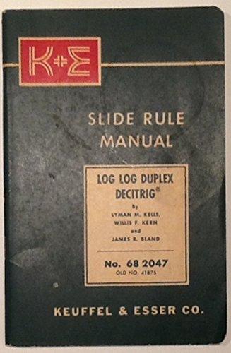 K&e Slide Rule Manual Log Log Duplex Dec for sale  Delivered anywhere in USA