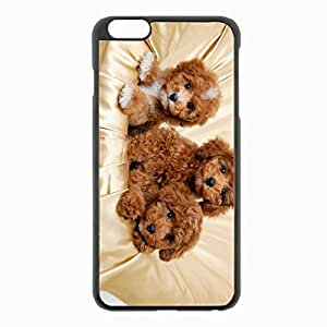iPhone 6 Plus Black Hardshell Case 5.5inch - three small Desin Images Protector Back Cover