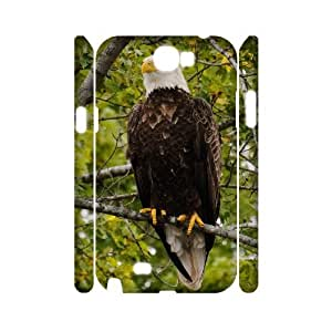 GGMMXO Bald eagle Haliaeetus leucocephalus Phone 3D Case For Samsung Galaxy Note 2 N7100 [Pattern-2]