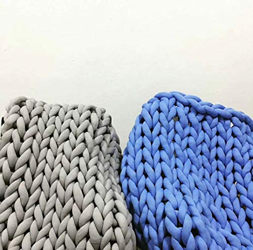 Wholesale Super Chunky Vegan Yarn, Acrylic Bulky Thick Roving Washable Softee Chunky Yarn for Arm Knitting DIY Handmade Blankets (Blue, 120m) by HomeModa Studio (Image #3)