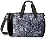 Maaji Women's Velvet Printed Convertible Weekender Bag, Black, One Size