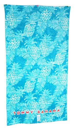 - Tommy Bahama 35 x 66 Aqua Blue Pineapples & Palm Tree Fronds Beach Towel