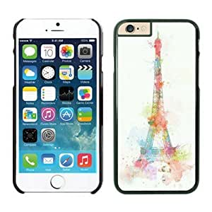 Iphone 6 Plus Case 5.5 Inches, Amazing Art Eiffel Tower Black Phone Protective Cover Case for Apple Iphone 6 Plus