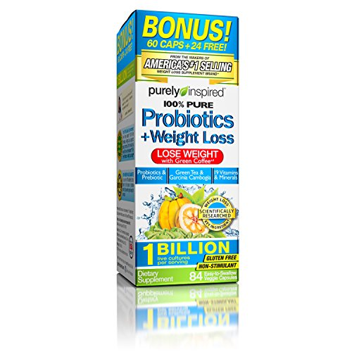 [Purely Inspired Probiotics + Weight Loss 84 Ct] (Slimquick Laboratories Weight Loss)