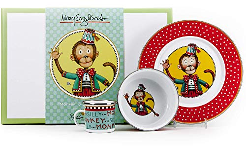 Golden Rabbit - Enamelware Monkey Pattern Child Dinner Set