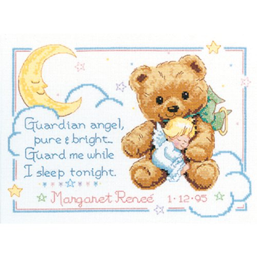 Dimensions Needlecrafts Counted Cross Stitch, Cuddly Bear Birth Record