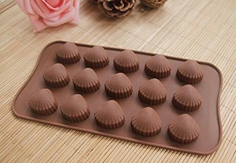 Naisidier Moldes de Torta de Hielo de Silicona Cubitos de Chocolate Moldes Concha Chocolate Madeleine Molde para Hornear Herramienta: Amazon.es: Hogar