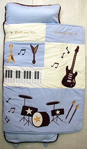 SoHo Nap Mat ,Blue Rock Band(All Hand Embroidery) by Ellie and Luke