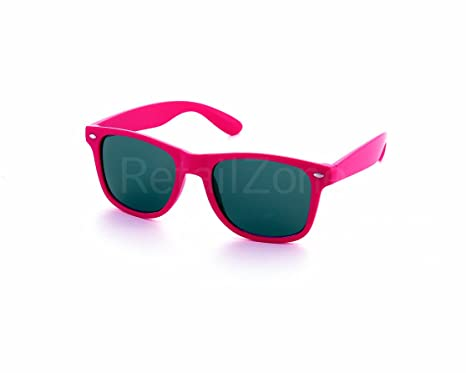 bb31a8baba0 Neon Pink Wayfarer Aviator Sunglasses Retro 80 s Fashion Wayfarers Geek  Tint Lenses