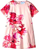 Lanvin Kids Baby Girl's Short Sleeve Floral Print A-Line Dress with Bow On Front (Toddler/Little Kids) Pink/Multi 2