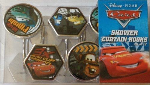 Closeout Drape - Disney Cars Pit Crew Resin Shower Curtain Hooks