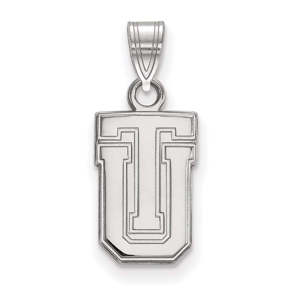 Lex /& Lu LogoArt 10k White Gold The University of Tulsa Small Pendant LAL128105