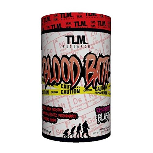 TLM Research Blood Bath Non Stim Nitric Oxide Booster with Agmatine, Citrulline Malate, Agmatine, and Norvalline for Intense Pumps