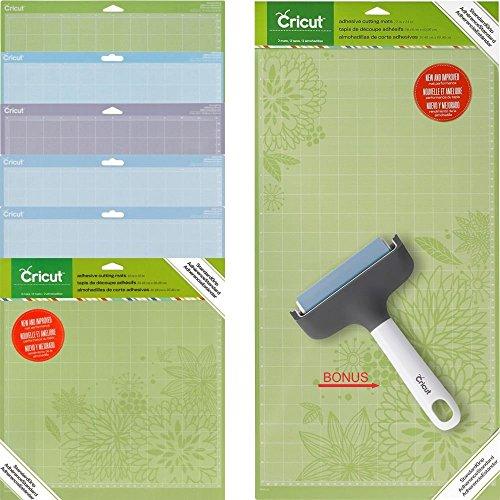 Cricut Complete Set Of Cutting Mats in Different Grip ( 11 Мats ) + BONUS Cricut Brayer by Cricut Creative labs