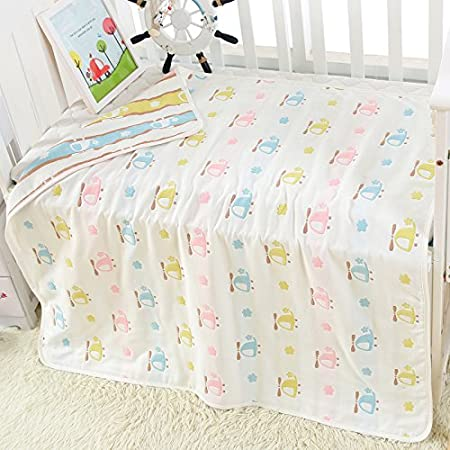 Baby Blanket Muslin Cotton Receiving Toddler Blanket Woodland Deer Brandream