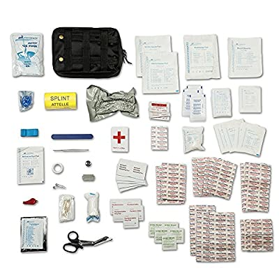 First Aid Kit - Includes Splint & Israeli Bandage - Fully Stocked for IFAK, Military, First Responder, Medic Bag, Tactical, Survival, Camping, Hiking from Varina Supply Company