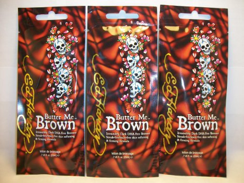 3 packets Butter Me Brown Streak & Stain Free Bronzers .7z
