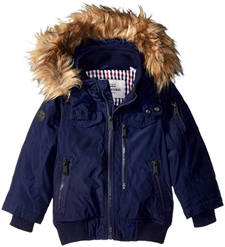 Ben Sherman Boys' Little Short Parka Jacket, Navy, 5/6