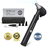 SPECv3 Fiber Optic LED Otoscope - Physician Approved Ear Care Professional Medical & Home Diagnostic Set with 20 x Reusable Specula