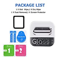 Apple Watch 38mm Full Coverage 3D Screen Protector (Series 1, Series 2, Series 3), Atill Tempered Glass Screen Protector [Anti-scratch] [Bubble-free] for Apple iWatch [1 Pack, Black] by Atill