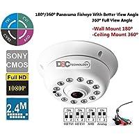 CVI/TVI/AHD/CVBS infrared 12PCS IR Leds Ir-cut 1.7mm fisheye Lens Panoramic 360 degree Indoor Dome Security Camera Analog Surveillance Camera