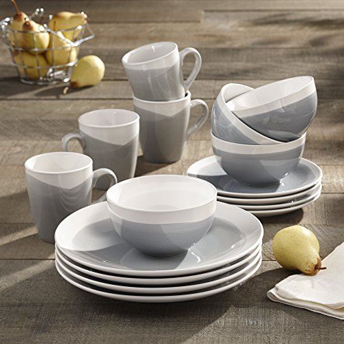 American Express Deals >> American Atelier 6702-16-RB Oasis Dinnerware Set (16 Piece ...