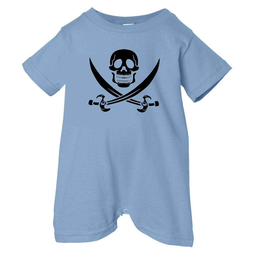 Lt. Blue, 6 Months Black Pirates /& Anchors Unisex Baby Skull /& Crossbones Baby /& Toddler T-Shirt Romper