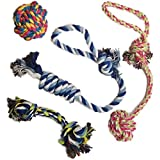 Otterly Pets Puppy Dog Pet Rope Toys for Small to Medium Dogs (Set of 4)