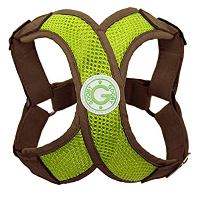 Gooby Choke Free Perfect Fit Active X Step-In Synthetic Lambskin Soft Harness for Small Dogs