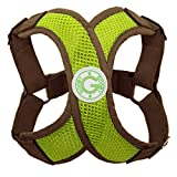 Gooby Choke Free X Harness for Small Dogs, Small, Green