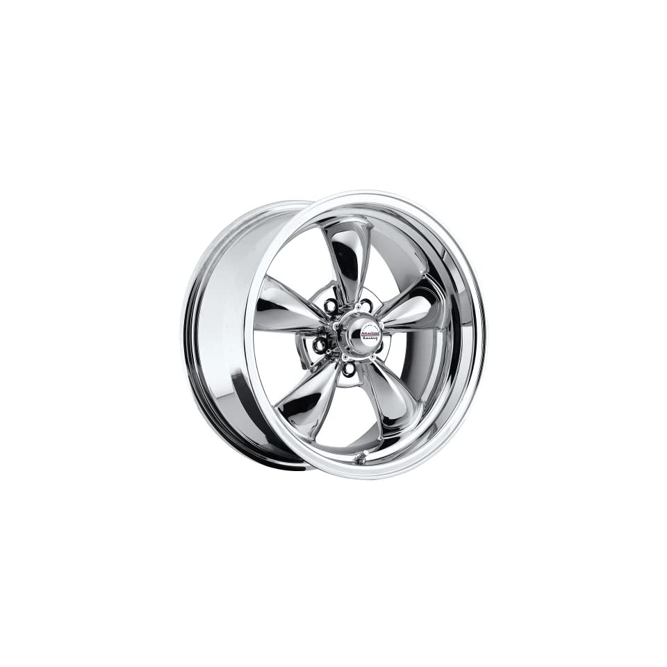 17 inch 17x8 / 17x9 100 C Classic Series Chrome aluminum wheels rims licensed from American Racing 5x4.75 Chevy lug pattern 0 offset 4.50 and 5.00 backspacing (set of four wheels)