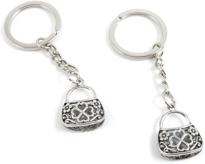 40 Pieces Fashion Jewelry Keyring Keychain Door Car Key Tag Ring Chain Supplier Supply Wholesale Bulk Lots R1GR6 Hand Bag Handbag