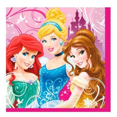 Disney Princess Party Beverage Napkin-16 (Disney Napkins)